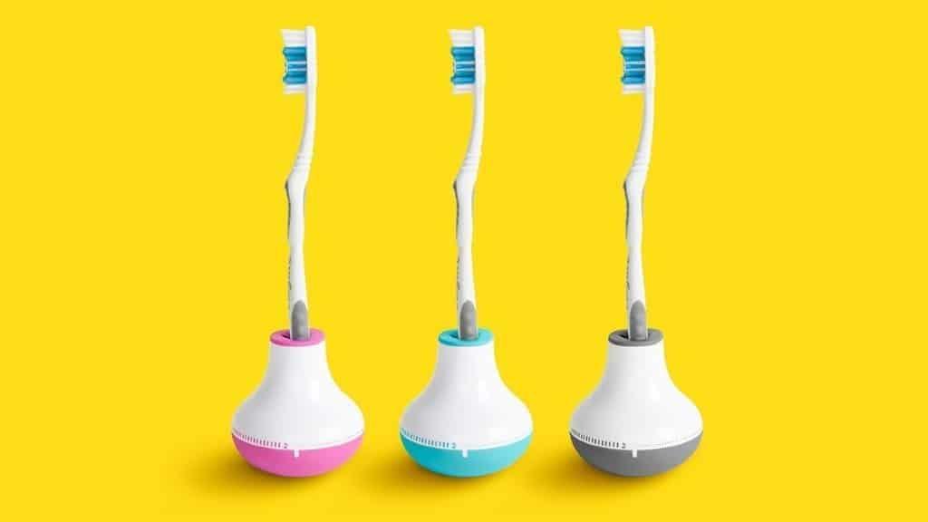 Quirky Tandborsthållare Med Timer