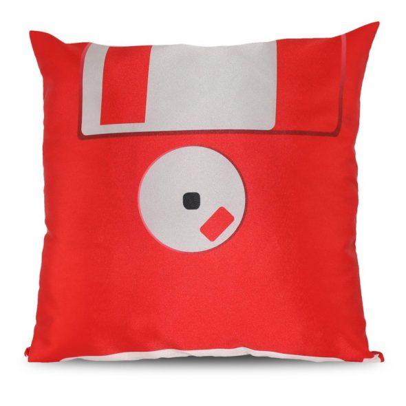Diskett Kuddfodral Röd