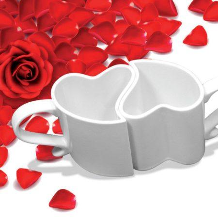 Mugg För Kärlekspar Vit