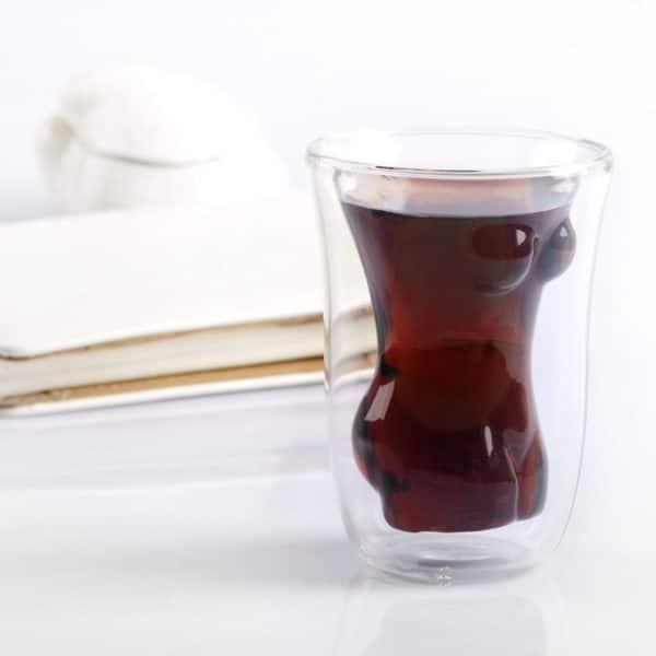 Drinkglas Naken Kvinna