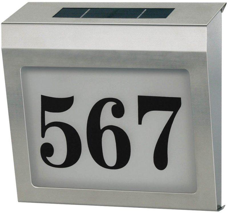 Soldriven Nummerskylt För Hus