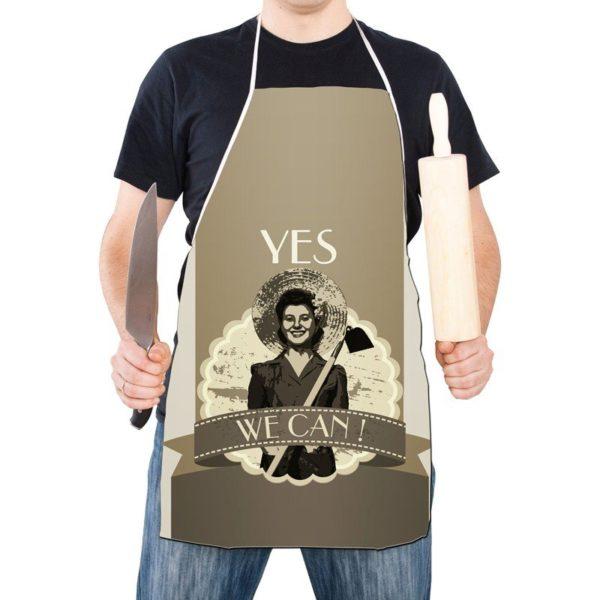 Retro Förkläde Yes we can