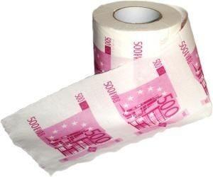 500 Euro Toalettpapper