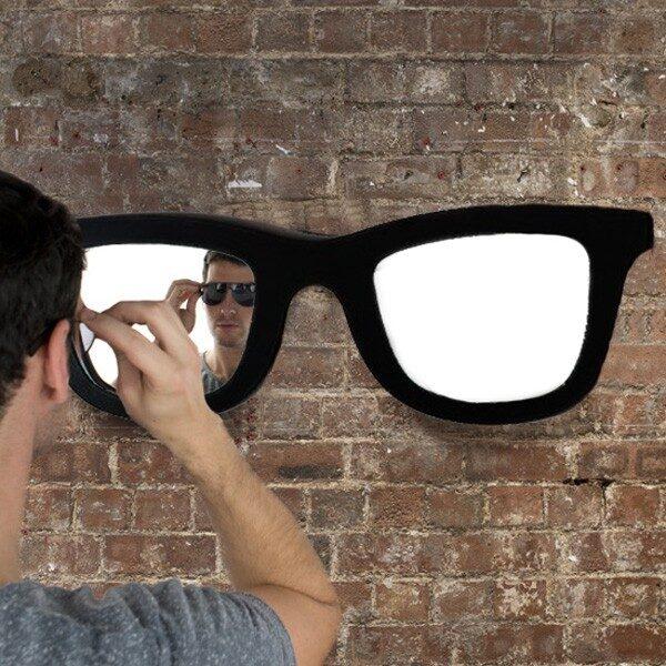 Solglasögon Spegel Svart