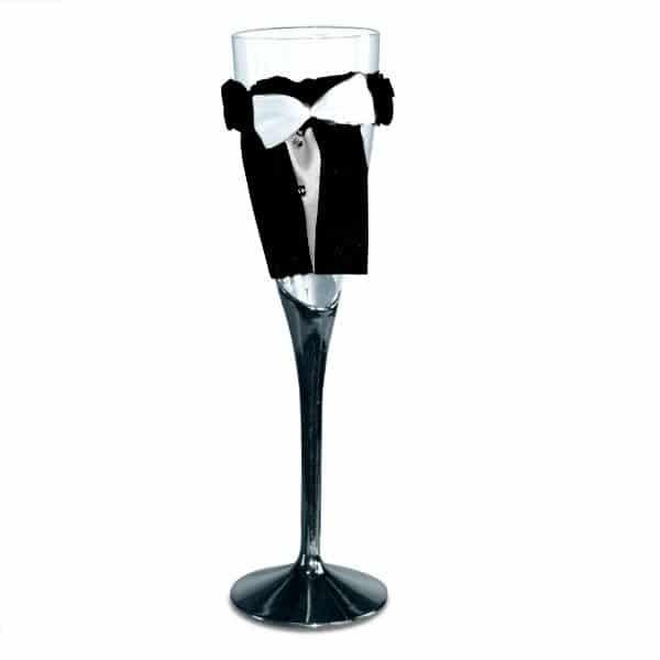 Brud & Brudgum Champagneglas