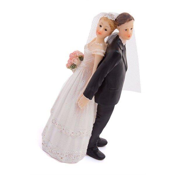 Tårtdekoration Brud & Brudgum Just Married