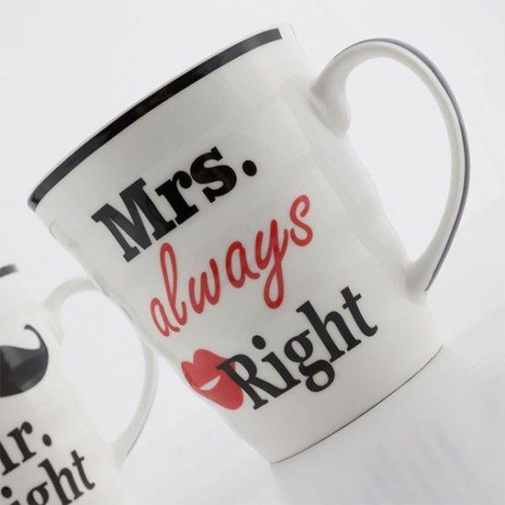 Mr Right & Mrs Always Right Mugg