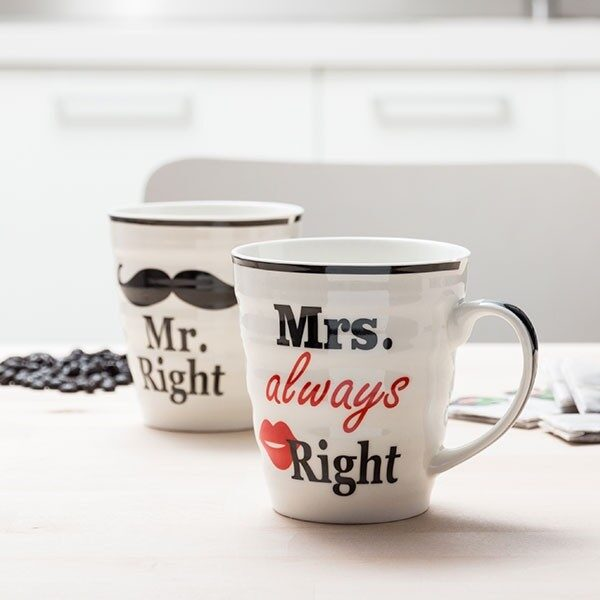 Mr Right & Mrs Always Right Mugg
