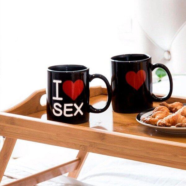 I Love Sex Magisk Mugg