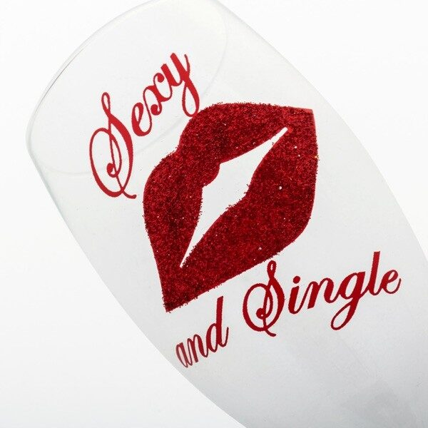 Sexy And Single Champagneglas