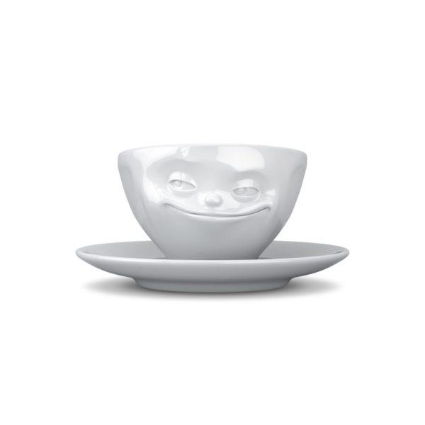 Espressokopp Med Ansikte Flinande