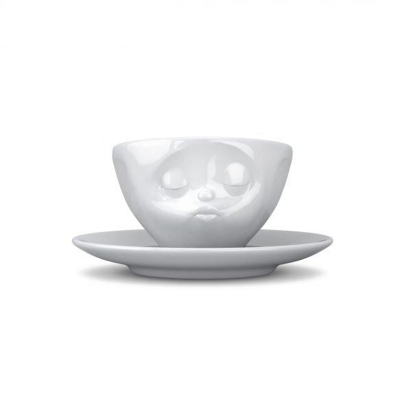 Espressokopp Med Ansikte Pussande