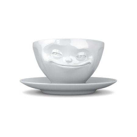 Kaffekopp Med Ansikte Flinande