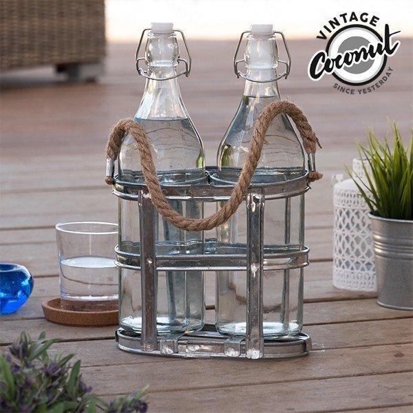 Glasflaskor i Hållare