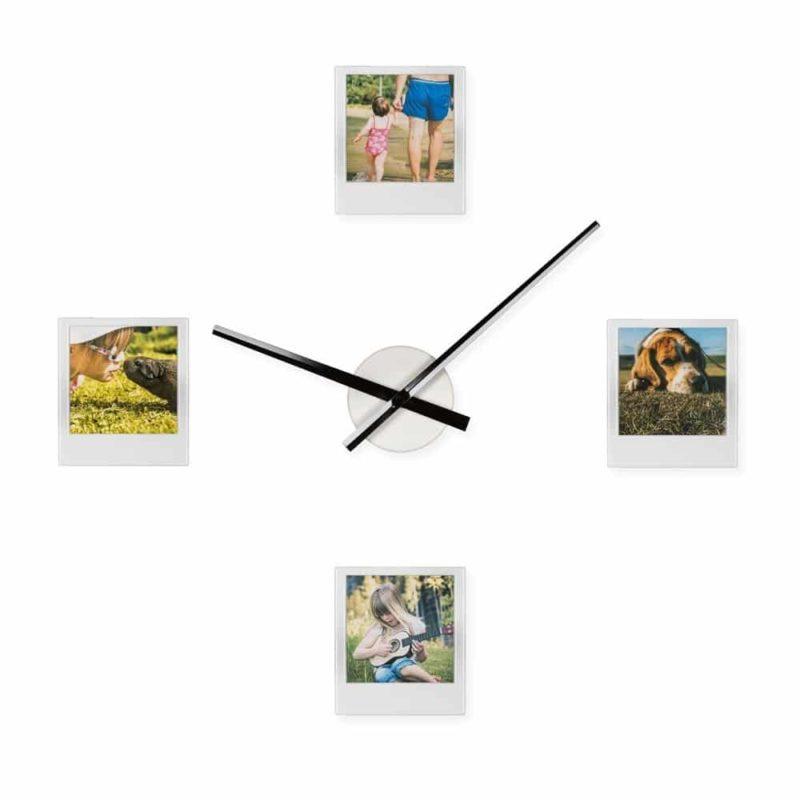 Personliga Klockan Med 4 Fotografier