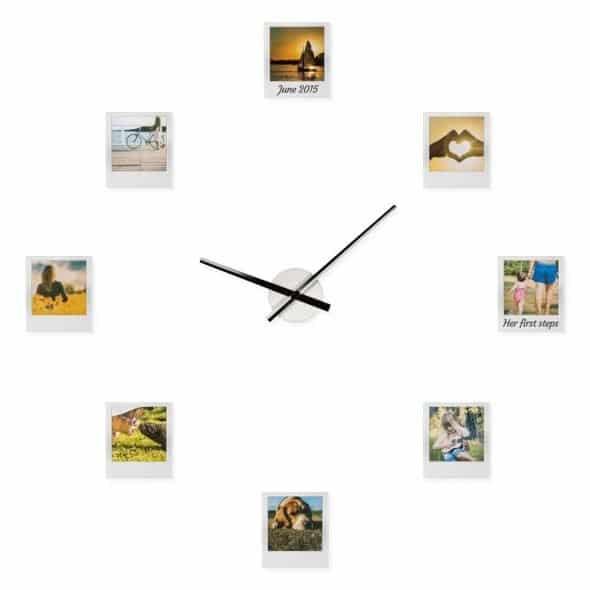 Personliga Klockan Med 8 Fotografier