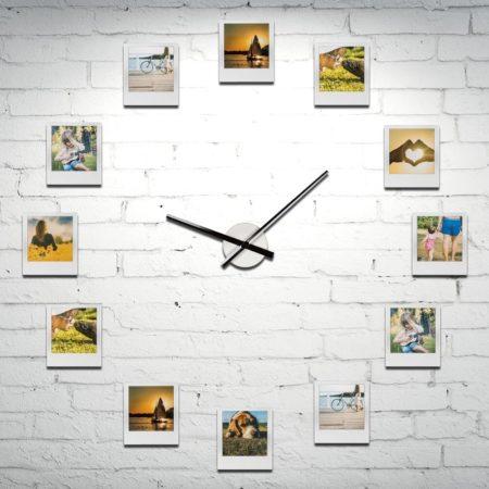Personliga Klockan Med 12 Fotografier