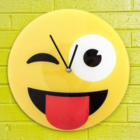Blinkande Emoji Väggklocka