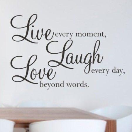 Väggdekor Live Laught Love