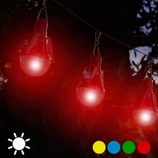 Solcellsglödlampa Röd