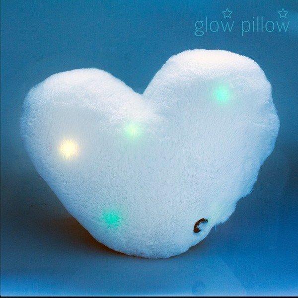 LED Lysande Kudde Hjärta