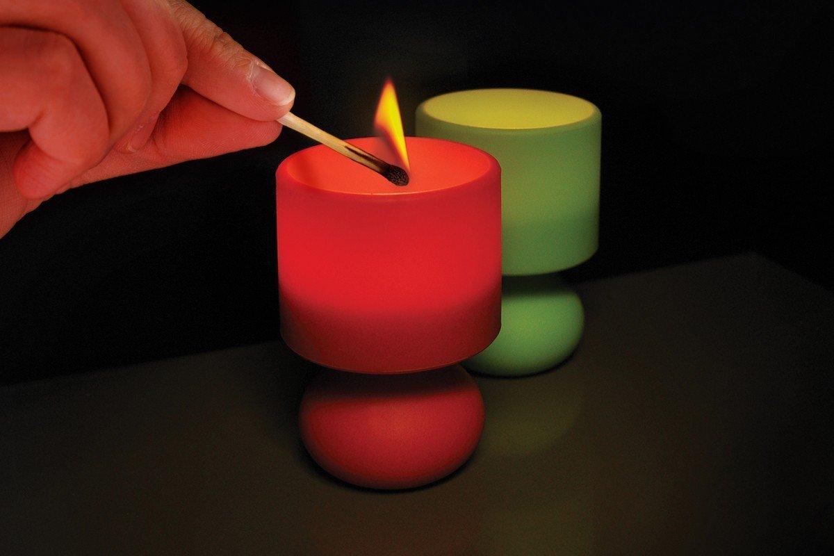 Retro Värmeljus Lampa Röd