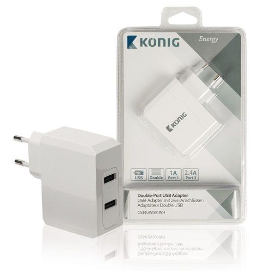 USB Laddare Med 2 Portar