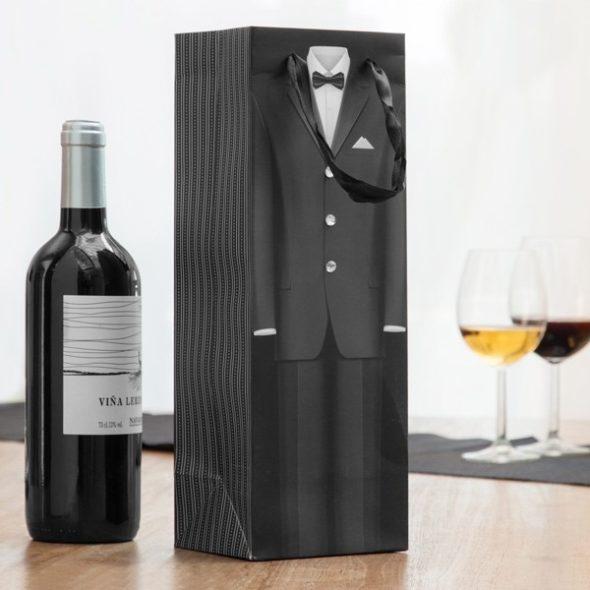 Presentpåse Till Vinflaska Smoking