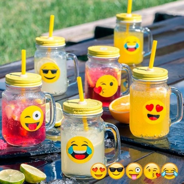 Burk Med Sugrör Emoji