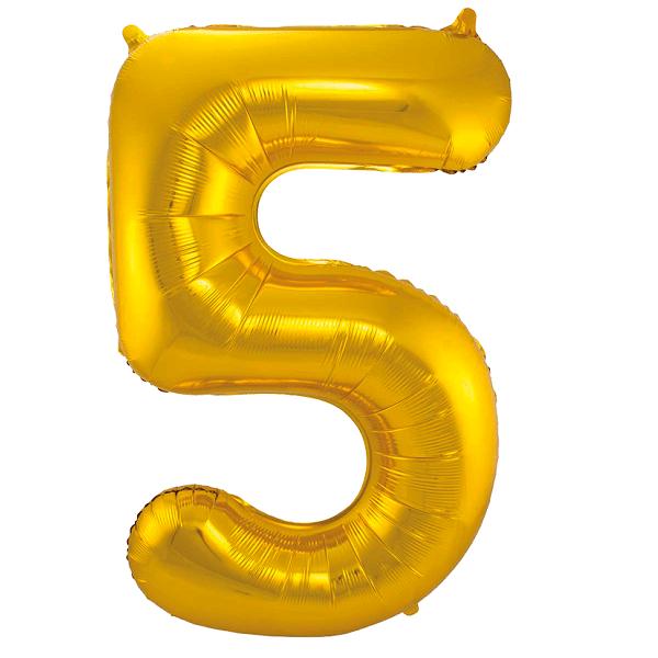 Sifferballong Guld 5