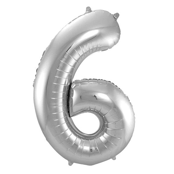 Sifferballong Silver 6