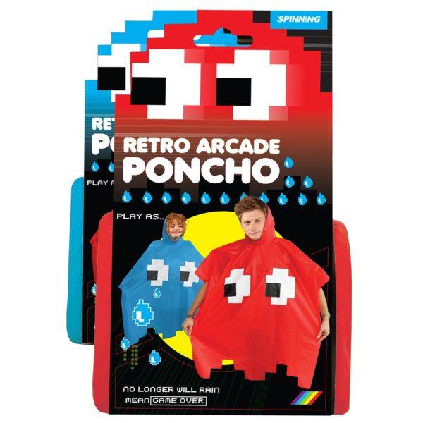 Retro Arcade Poncho Blå