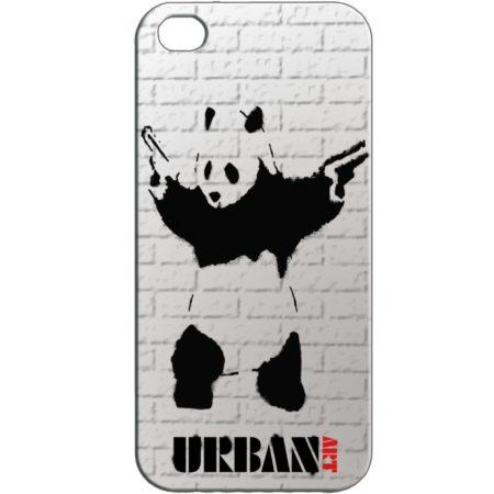 Banksy Style Gun Panda iPhone 5 Skal