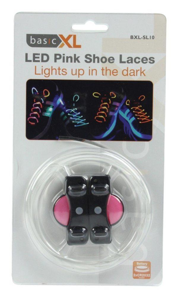 LED Skosnören Rosa