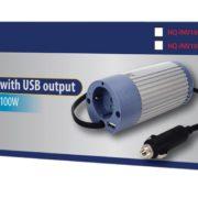 Bilkonverterare 12V/220V + USB