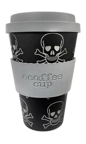 Ecoffee Take Away Mugg Grå Dödskallen