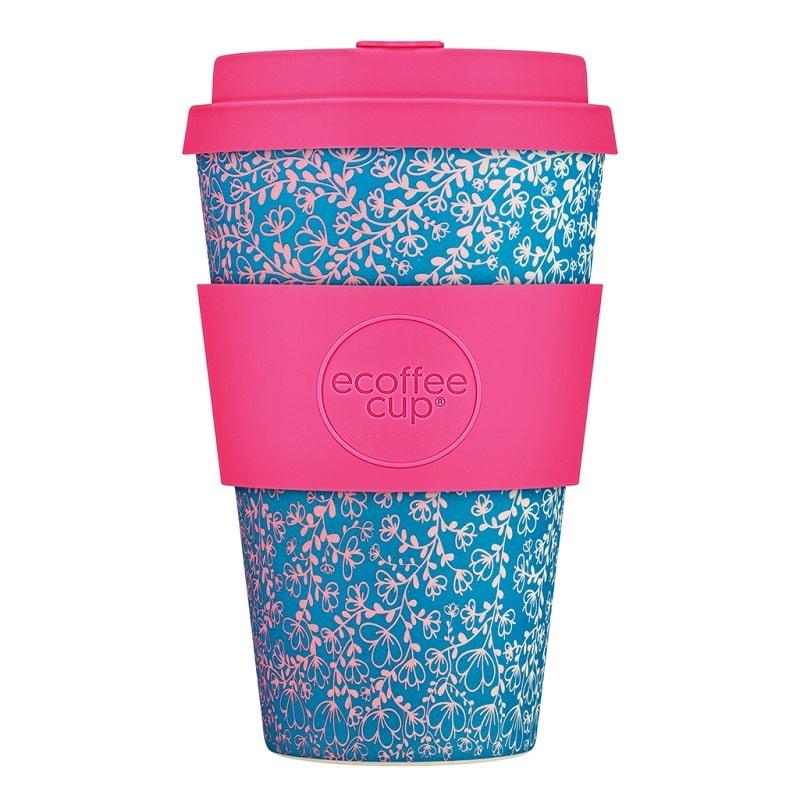Ecoffee Take Away Blå Blommig