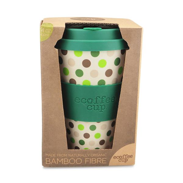 Ecoffee Take Away Mugg Gröna Prickar