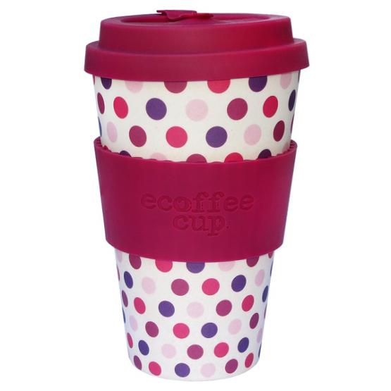 Ecoffee Take Away Mugg Lila Prickar