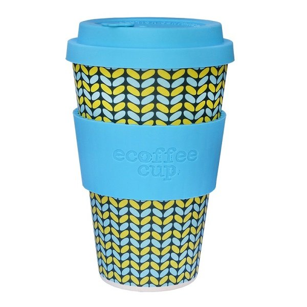 Ecoffee Take Away Mugg Blå Mönster