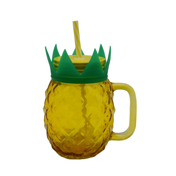 Retro Burk Ananas Gul