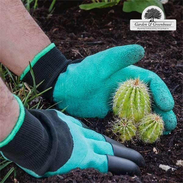 Trädgårdshandskar Med Grävklor