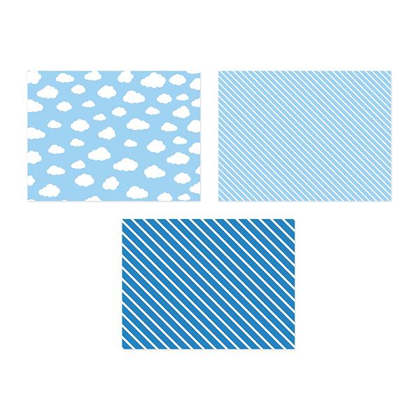 Pappersunderlägg Blå