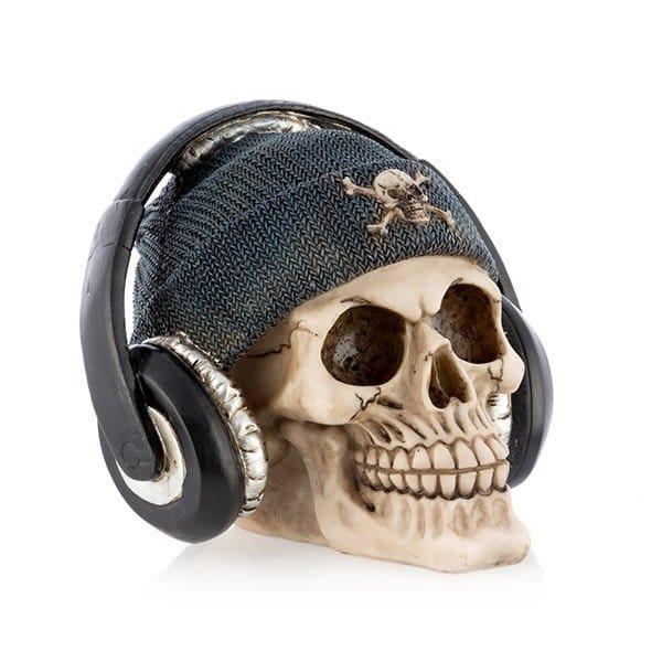 Piratskalle Med Hörlurar Sparbössa