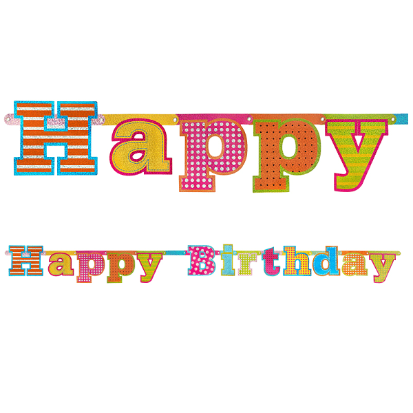 Banderoll Happy Birthday