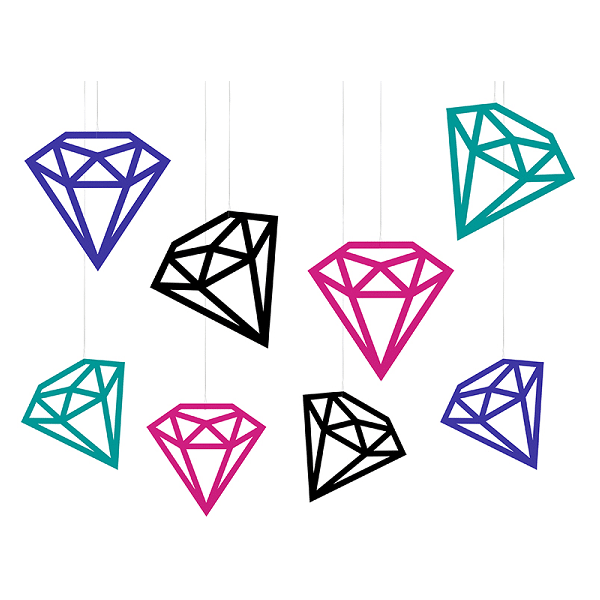 Hängande Dekorations Diamanter