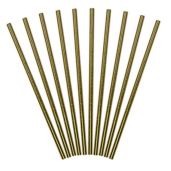 Papperssugrör Guld Metallic