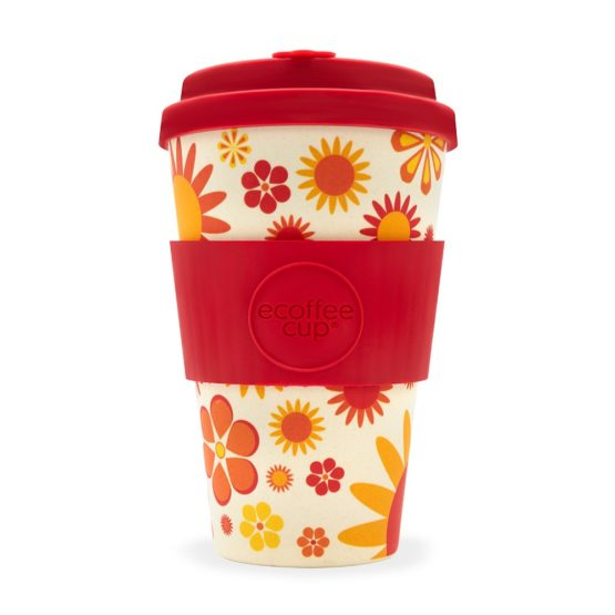 Ecoffee Take Away Mugg Röd Blommig