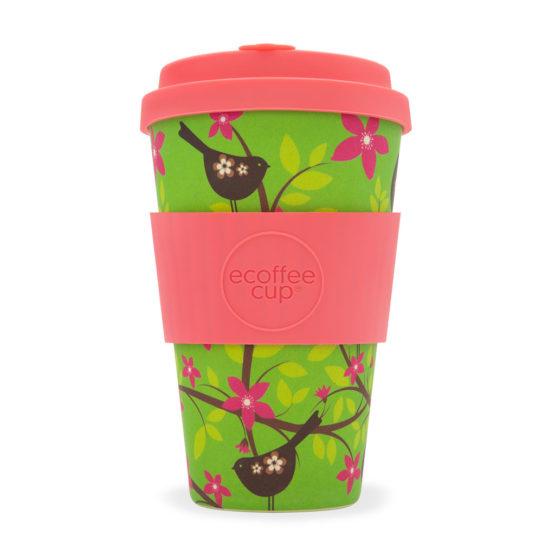 Ecoffee Take Away Mugg Rosa Fåglar