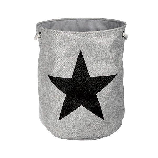 Tvättkorg Stjärna Grå